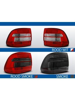 achterlichten porsche cayenne rood/wit, rood/smoke of smoke