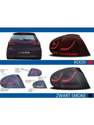 Volkswagen Golf 5 Achterlichten led R Look Urban Style zwart smoke rood