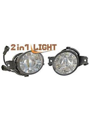 Mistlampen LED dagrijverlichting   diverse Renault / Nissan en Opel modellen   Bi-Light / 2 in 1 light
