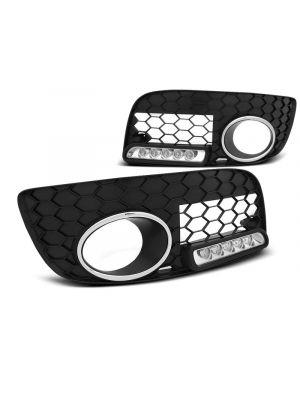 Dagrijverlichting | Volkswagen | Golf 03-08 3d hat. / Golf 03-08 5d hat. / Golf Variant 07-09 5d sta. | GTI | LED | ABS Kunststof zwart Mat