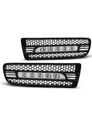 Dagrijverlichting | Volkswagen | Golf 97-03 5d hat. / Golf 98-03 3d hat. / Golf Cabriolet 98-02 2d cab. / Golf Variant 99-06 5d sta. | LED | REAL DRL | ABS Kunststof zwart Mat