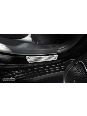 Instaplijsten | Mercedes-Benz | CLA-klasse Shooting Brake 19- 5d sta. X118 | voor de achterportieren | Lines | 2-delig | RVS rvs zilver