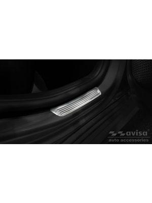 Instaplijsten | Mercedes-Benz | A-klasse 18- 4d sed. V177 / A-klasse 18- 5d hat. W177 | voor de achterportieren | Lines | 2-delig | RVS rvs zilver