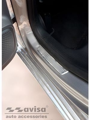 Instaplijsten | Mercedes-Benz | B-klasse 18- 5d mpv. | voor de achterportieren | Lines | 2-delig | RVS rvs zilver