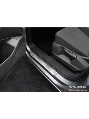 Instaplijsten | Volkswagen | Caddy Cargo 20- 3d bes. | Lines | 2-delig | RVS rvs zilver