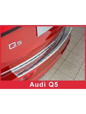Achterbumperbeschermer | Audi | Q5 08-12 5d suv. / Q5 12-17 5d suv. | Ribs | RVS