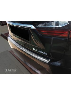 Achterbumperbeschermer | Lexus | RX 15-19 5d suv. | Ribs | RVS