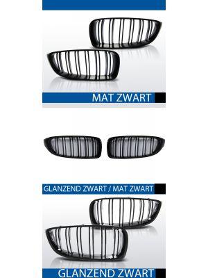 nieren bmw 4 serie m4 style f32 coupe f33 cabrio f36 grand coupe mat/zwart, mat/zwart-glanzend/zwart of glanzend zwart