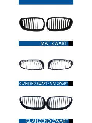nieren bmw 5 serie e60 sedan e61 touring mat/zwart, mat/zwart-glanzend zwart of glanzend zwart