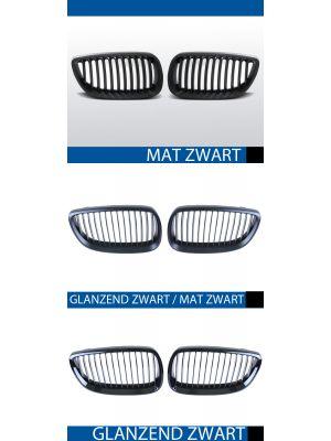 nieren bmw 3 serie e92 coupe e93 cabrio mat/zwart, mat/zwart-glanzend/zwart of glanzend zwart