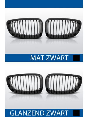 nieren bmw 1 serie e81 e82 e87 e88 mat/zwart of glanzend/zwart