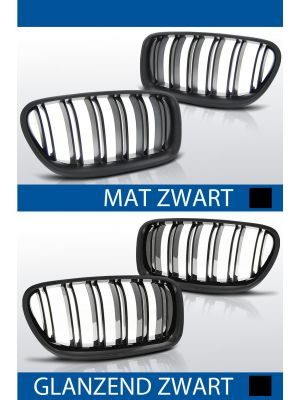 nieren bmw 5 serie f10 sedan f11 touring mat/zwart of glanzend/zwart