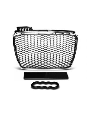 grill set rs type audi a4 b7 abs kunststof chroom, zilver of zwart