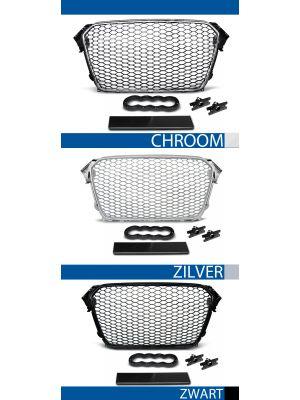 grille set audi a4 b8 abs kunststof chroom, zilver of glanzend zwart