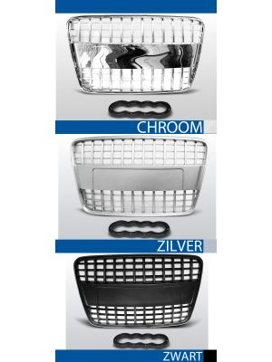 grille set s line style audi q7 abs kunststof chroom, zilver of zwart