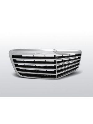 grille avantgarde type mercedes e-klasse w211 abs kunststof chroom