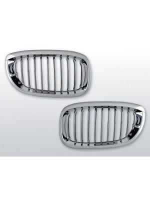 grillen set bmw 3-serie e46 coupe/cabrio chroom