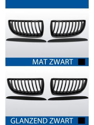 grillen nieren bmw 3 serie e90 sedan e91 touring mat/zwart of glanzend zwart