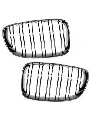Nieren grill set | M3 / M4 Look | BMW 1-serie E81 / E82 / E87 LCI / E88 | zwart