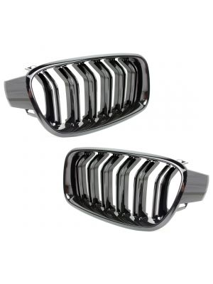 Nieren M3 Look | Grillen set | BMW 3-serie F30 / F31 | dubbele spijlen Type 2