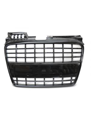 Grill | Audi | A4 04-07 4d sed. / A4 Avant 04-08 5d sta. / A4 Cabriolet 05-08 2d cab. | S8-Look | ABS Kunststof zwart Glanzend