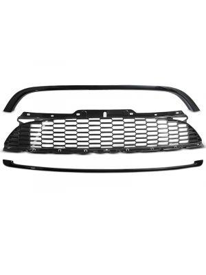 Grill | Mini | 10-14 3d hat. / Cabrio 09-16 2d cab. / Clubman 10-15 4d sta. | JCW-Style | ABS Kunststof zwart Glanzend