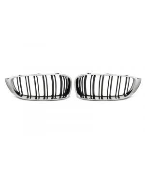 Nieren | BMW | 4-serie Cabrio 14- 2d cab. F33 / 4-serie Coupé 13- 2d cou. F32 / 4-serie Gran Coupé 14- 5d hat. F36 | M4-Look | ABS Kunststof chroom en zwart Mat en glanzend (combinatie)