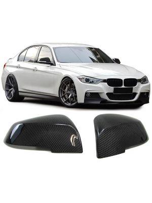 Spiegelkappen | BMW | o.a F20 / F21 / F22 / F23 / F87 / F23 / F30 / F31 / F34 / F35 / F32 / F33 / F36 / I01 / E84 | zwart carbon-look