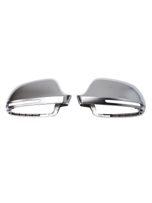 Spiegelkappen | Audi | A3/S3 (8P), A4/S4 (B8), A5/S5 (B8), A6/S6/RS6 (C6), A8/S8 (D3), Q3/RS Q3 | S-Line Look | mat chroom