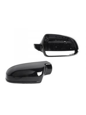 Spiegelkappen | Audi | A3/S3/RS3 (8P), A4/S4/RS4 (B8.5), A5/S5/RS5 (B8.5) | glanzend zwart