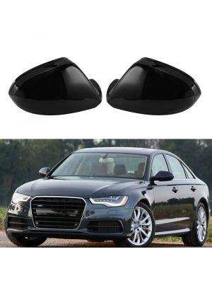 Spiegelkappen   Audi   A6 S6 2011-2018 4d sedan / A6 S6 RS6 2011-2018 5d stationwagon   C7   glanzend zwart