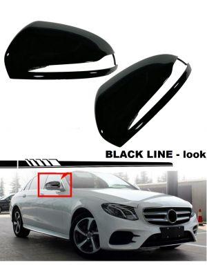 Spiegelkappen | Mercedes | o.a. W205, W213, W238, W463, W222, C217, C253, X205, W253, X253 | glanzend zwart