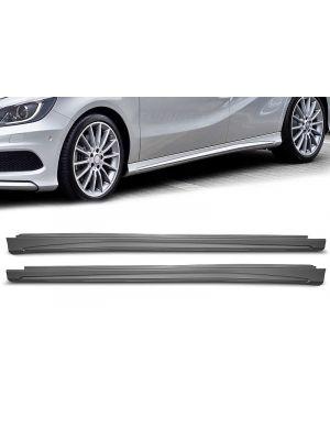 Side skirts (set) | zijskirts | Mercedes A-Klasse W176 CLA-Klasse C117 | voor AMG-style | ABS-kunststof
