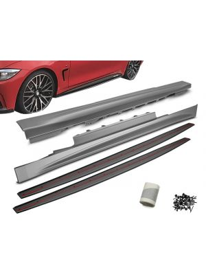Side Skirts | BMW | 4-serie Cabrio 14- 2d cab. F33 / 4-serie Coupé 13- 2d cou. F32 | M-Performance | OEM Look | ABS