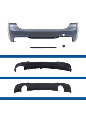 E91 Achterbumper met of zonder PDC, geschikt voor uitlaat links of 335 diffuser