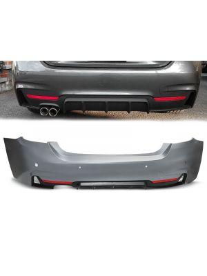 Achterbumper | BMW | 4-serie Cabrio 14- 2d cab. F33 / Coupé 13- 2d cou. F32 | M-Performance Look | ABS-Kunststof