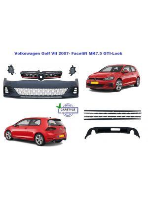 Bodykit | Volkswagen | Golf 7 Facelift 2017- | GTI-Look | voorbumper, diffusor, side skirts en accessoires | ABS Kunststof
