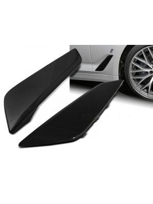 Side Wing / Air Flow Intake | BMW | 5-serie 17- 4d sed. G30 / 5-serie Touring 17- 5d sta. G31 | M-Look Shadow line - Black line | ABS Kunststof | zwart glanzend