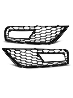 Bumperrooster | Audi | A4 11-15 4d sed. / A4 Avant 11-15 5d sta. | RS-Style | ABS Kunststof zwart Glanzend