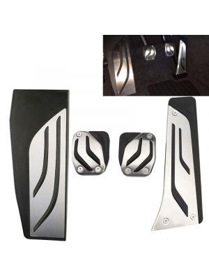 Pedaal Cover set | BMW | diverse modellen o.a. 1-serie / 2-serie / 3-serie / 4-serie / 5-serie / 6-serie / X3 / X4 | M-Performance Look | schakel | met voetsteun