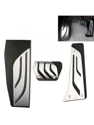 Pedaal Cover set | BMW | diverse modellen o.a. 1-serie / 2-serie / 3-serie / 4-serie  / 5-serie / 6-serie / X3 / X4 / X5 / X6 | M-Performance Look | automaat | met voetsteun