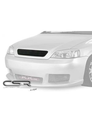 Grill | Opel | Astra 98-04 3d hat. / Astra 98-04 4d sed. / Astra 98-04 5d hat. / Astra Coupé 00-06 2d cou. | zwart ABS Kunststof