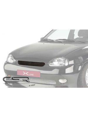 Grill | Opel | Corsa 93-97 3d hat. / Corsa 93-97 5d hat. / Corsa 97-00 3d hat. / Corsa 97-00 5d hat. | zwart ABS Kunststof