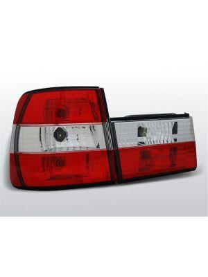 Achterlichten | BMW 5-Serie E34 Sedan 1988-1995 | rood / wit