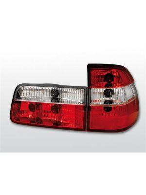 Achterlichten | BMW 5-Serie E39 1997-2000 Touring | rood / wit