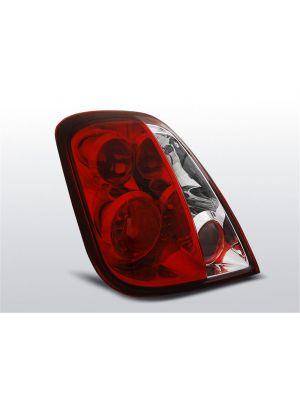 Achterlichten | Fiat 500 2007- | rood / wit