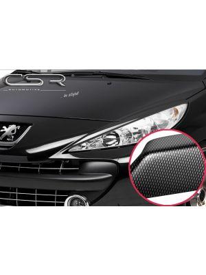 Koplampspoilers | Peugeot 207 alle 2006-2012 | ABS Carbon Look