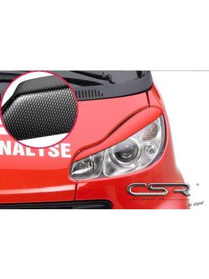Koplampspoilers | Smart fortwo 451 alle vanaf 2007 | ABS Carbon Look