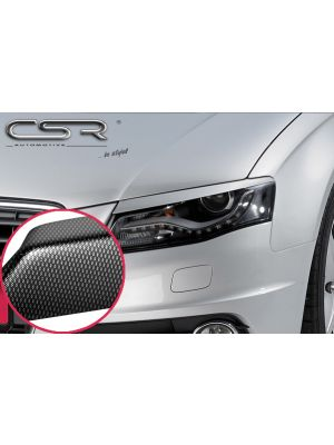 Koplampspoilers | Audi  A4 B8 Limousine / Avant vanaf 2007 | ABS Carbon Look