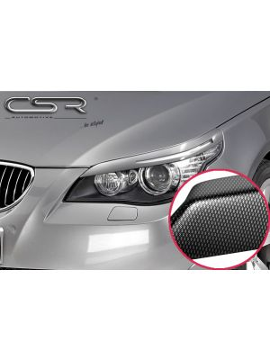 Koplampspoilers | BMW  5er E60 E61 Touring / Limousine 2003-2010 | ABS Carbon Look